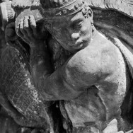 Detail of statue on Charles Bridge