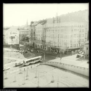 Buses from afar in Prague.