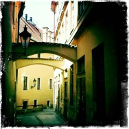Archways over Prague alley