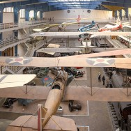 Wide view of museum planes