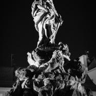 Statue at night of St. Vitus