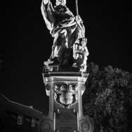 Statue at night of St. Augustine
